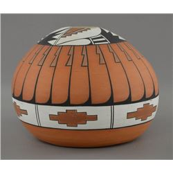 TAOS INDIAN POTTERY SEED JAR (PAM LUJAN HAUER)