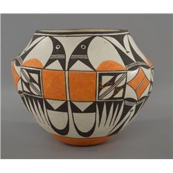 ACOMA INDIAN POTTERY OLLA (LUCY M LEWIS)