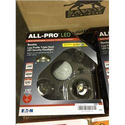 All Pro LED Revolve Low Profile Triple Head LED Security Floodlight