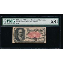 50 Cent Fifth Issue Fractional Note PMG 58EPQ