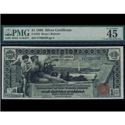 1896 $1 Educational Silver Certificate PMG 45EPQ