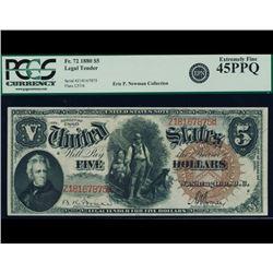 1880 $5 Legal Tender Note PCGS 45PPQ