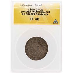 1300 Bohemia Wenzeslaus II AR Prager Groschen ANACS XF40