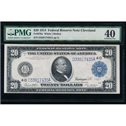 1914 $20 Cleveland Federal Reserve Note PMG 40