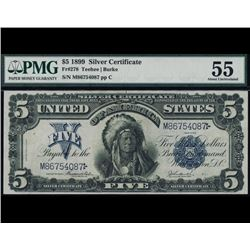 1899 $5 Chief Silver Certificate PMG 55
