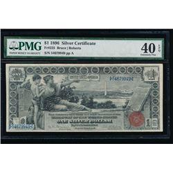 1896 $1 Educational Silver Certificate PMG 40EPQ