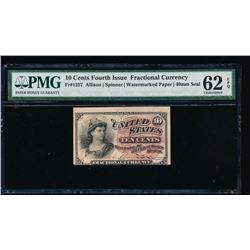 10 Cent Fourth Issue Fractional Note PMG 62EPQ
