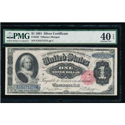 1891 $1 Martha Washington Silver Certificate PMG 40EPQ