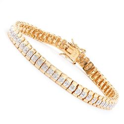 Plated 18KT Yellow Gold 0.58ctw Diamond Bracelet