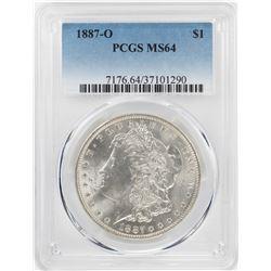 1887-O $1 Morgan Silver Dollar Coin PCGS MS64