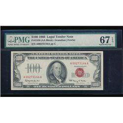 1966 $100 Legal Tender Note PMG 67EPQ
