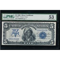 1899 $5 Chief Silver Certificate PMG 53
