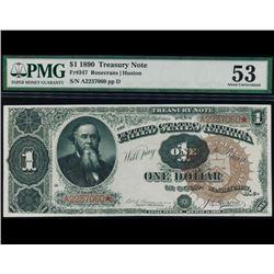 1890 $1 Treasury Note PMG 53