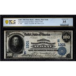 1902 $100 Albany National Bank Note PCGS 35