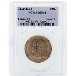 1934 Maryland Commemorative Half Dollar Coin PCGS MS64