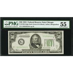 1934 $50 Chicago Federal Reserve Note PMG 55
