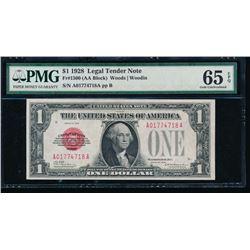 1928 $1 Legal Tender Note PMG 65EPQ