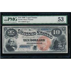 1880 $10 Jackass Legal Tender Note PMG 53
