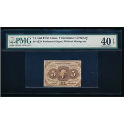 5 Cent First Issue Fractional Currency Note PMG 40EPQ