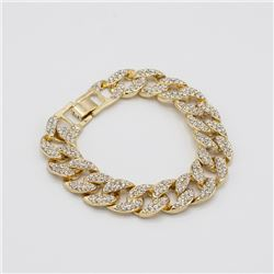 Plated 14KT Yellow Gold Link Bracelet