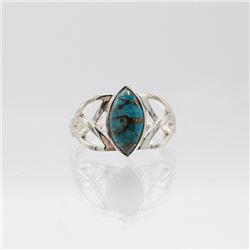 Sterling Silver 2ct Turquoise Ring