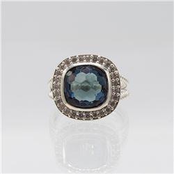 Lab Created 4.25ct Violet Blue Tanzanite Ring