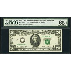 1969 $20 Cleveland Federal Reserve STAR Note PMG 65EPQ