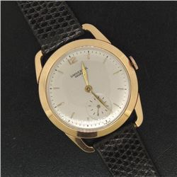 Vintage Men's 18k Rose Gold Universal Geneve Mechanical Wrist Watch w/ Fancy Lug