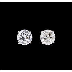 1.02 ctw Diamond Earrings - 14KT White Gold