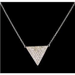 0.75 ctw Diamond Necklace - 14KT White Gold