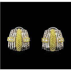 0.25 ctw Diamond Silver Earrings