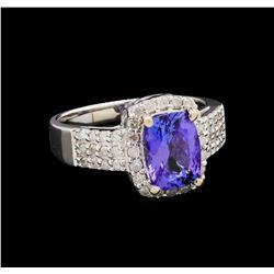 14KT White Gold 2.08 ctw Tanzanite and Diamond Ring