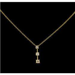 0.40 ctw Diamond Pendant - 14KT Yellow Gold
