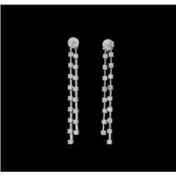 14KT White Gold 2.25 ctw Diamond Earrings