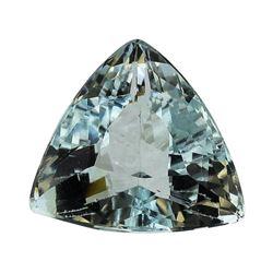 3.66 ct.Natural Trilliant Cut Aquamarine