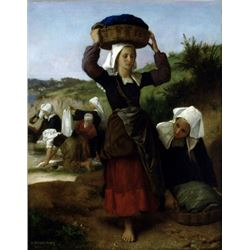 William Bouguereau - Washerwomen of Fouesnant