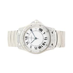 Cartier Santos Rhode Stainless Steel Wristwatch