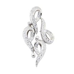 1.68 ctw Diamond Pendant - 14KT White Gold