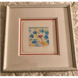 """Spring"" vintage litho pencil signed by Peter Max"