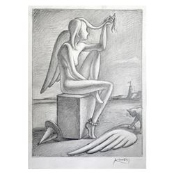 Contemplating Intention by Kostabi Original