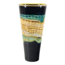 Black Opal Cone by GartnerBlade Glass