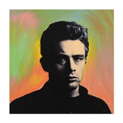 James Dean by Steve Kaufman (1960-2010)