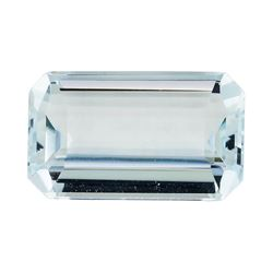 3.00 ct.Natural Emerald Cut Aquamarine