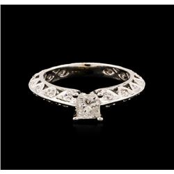 14KT White Gold 0.91 ctw Diamond Ring