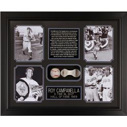 PSA Certified Roy Campanella Framed Autographed Baseball Collage