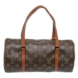 Louis Vuitton Monogram Canvas Leather Vintage Papilon 26 cm Shoulder Bag