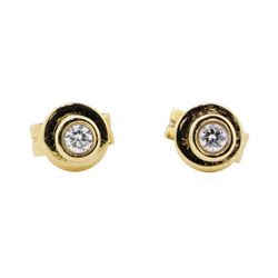 0.10 ctw Diamond Stud Earrings - 14KT Rose Gold