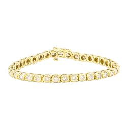 4.50 ctw Diamond Tennis Bracelet - 14KT Yellow Gold