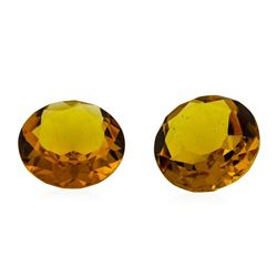 12.09 ctw.Natural Round Cut Citrine Quartz Parcel of Two