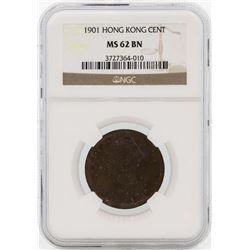 1901 Hong Kong Cent Coin NGC MS62BN